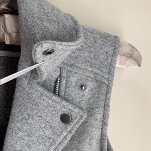 Club Monaco Jackets & Coats - Club Monaco Moto Vest Gray Wool Sz XS